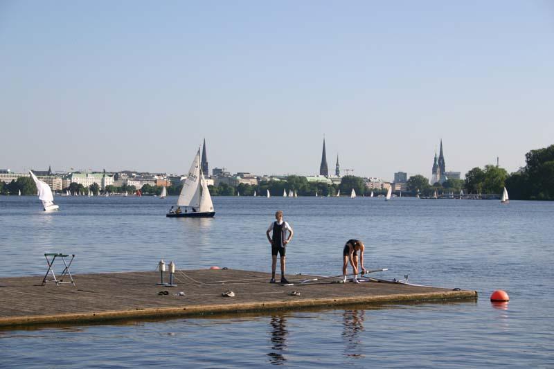 anleger für ruderboote