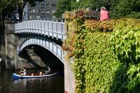 Kanu auf dem Kanal
